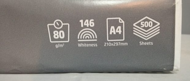 Papierstärke von 80 g/m²