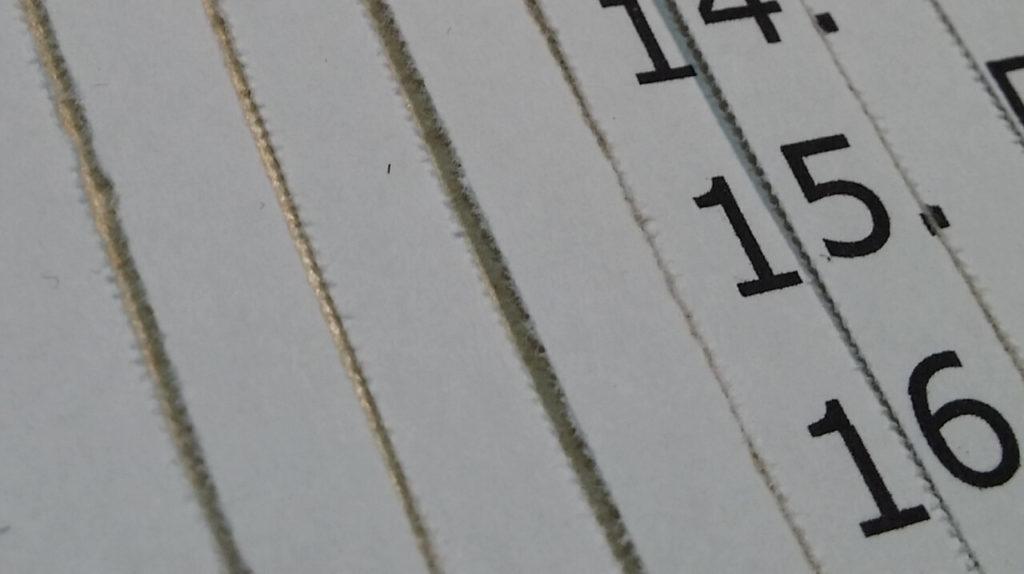 Streifenschnitt-Streifen im Detail