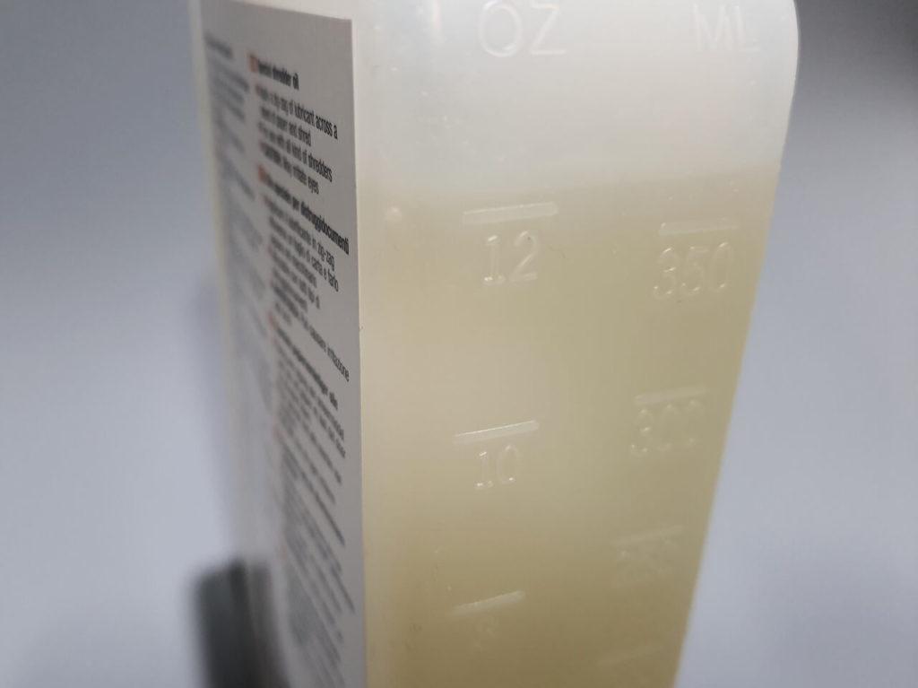 Füllstandsanzeige auf einer Flasche