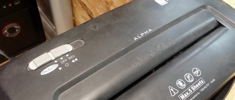 Rexel Alpha Streifenschnitt-Einzug